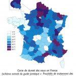 L'adoucisseur d'eau : quand est-il recommandé ? Carte de dureté des eaux en France